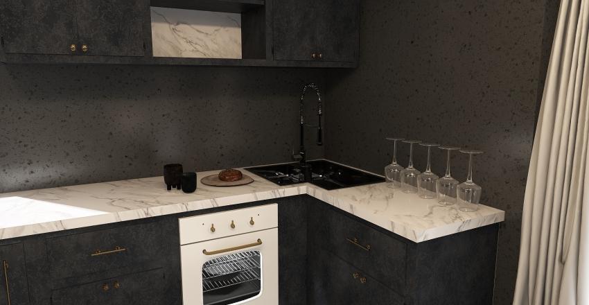 Neutral Toned Urban Home Interior Design Render