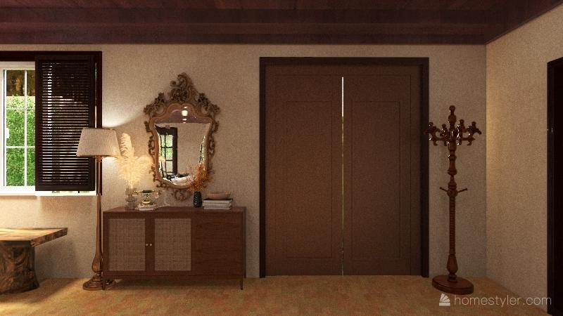 italian cottage Interior Design Render
