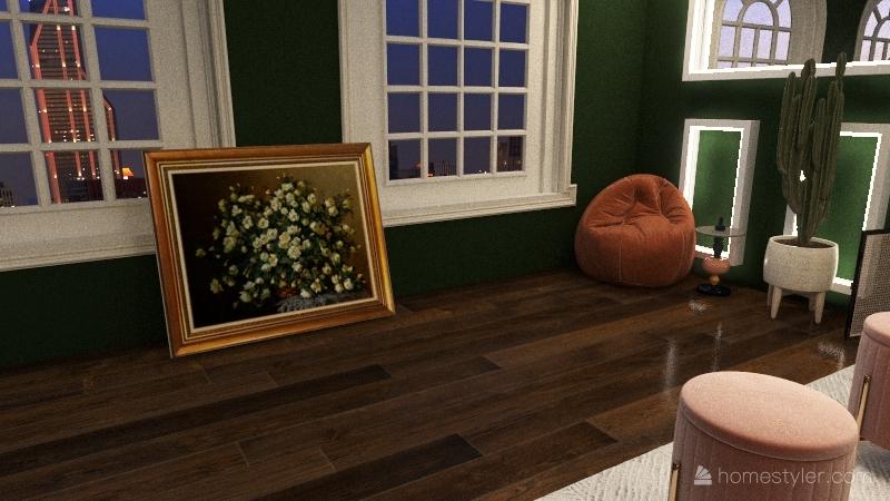 green Interior Design Render