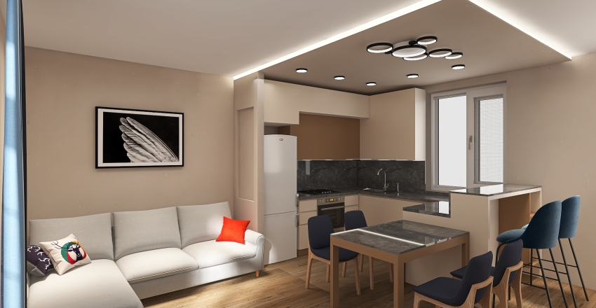 студия танхаус Interior Design Render