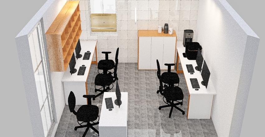 Novo Layout - Setor de TI Interior Design Render