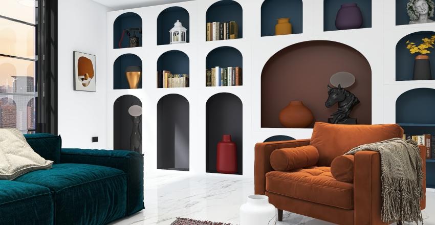 Leving room Interior Design Render