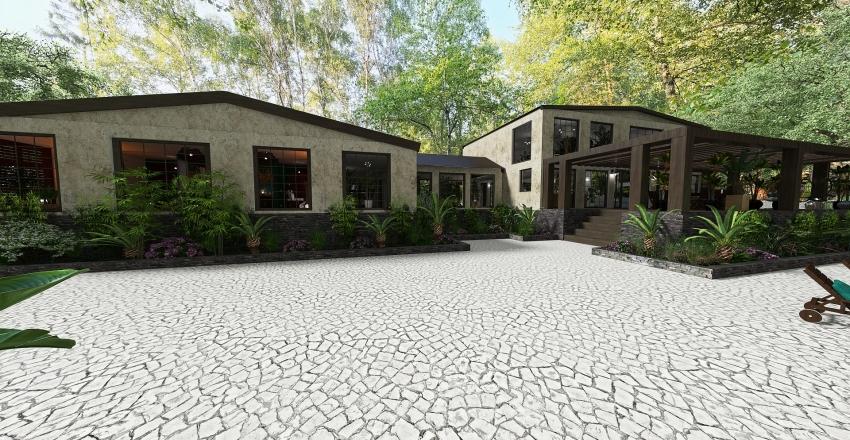 Large luxury house in Bali Interior Design Render