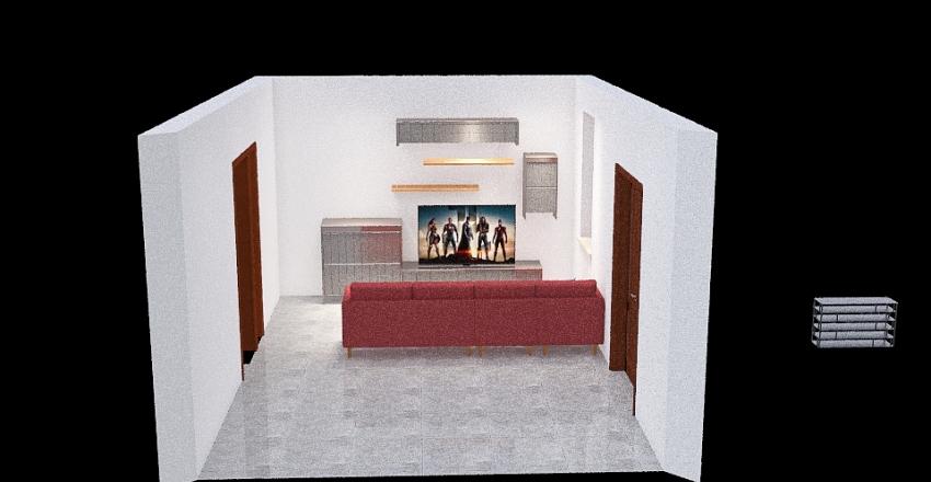 casa nueva salon Interior Design Render