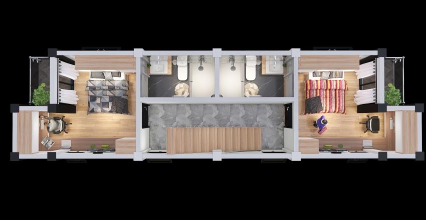 3era. Planta Interior Design Render