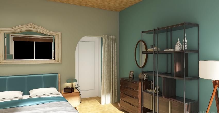 Beach House Bedroom Interior Design Render