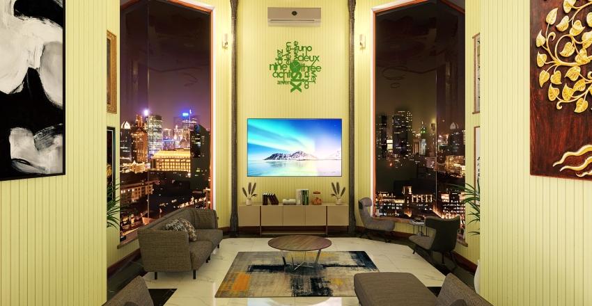 30sq.mtr Living area Interior Design Render