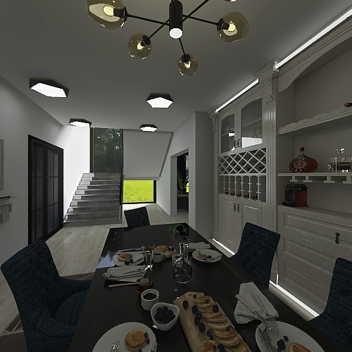 condo house Interior Design Render