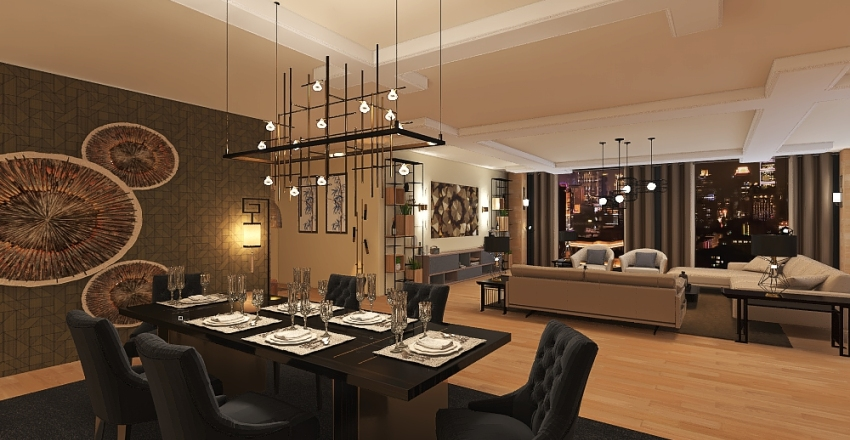 2 BHK BEAUTIFUL APARTMENT Interior Design Render