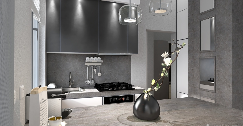 Copy 1 of Small apartment in Odessa #Pantone2021 Interior Design Render