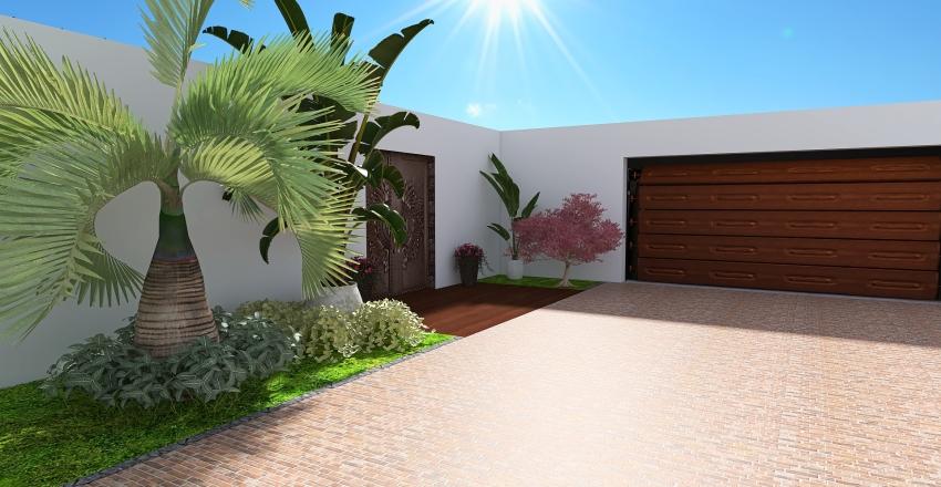 Modern Balinese-Style House Interior Design Render