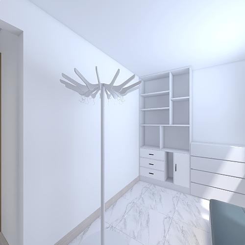 Dom, projekt szkolny Interior Design Render