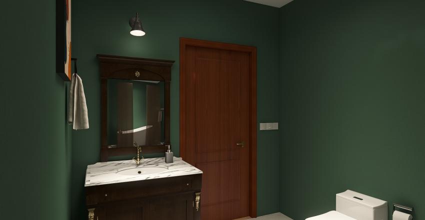 2 Bed/1 Bath Interior Design Render