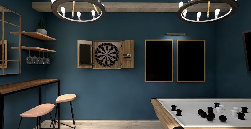 Rustic Game Room Interior Design Render