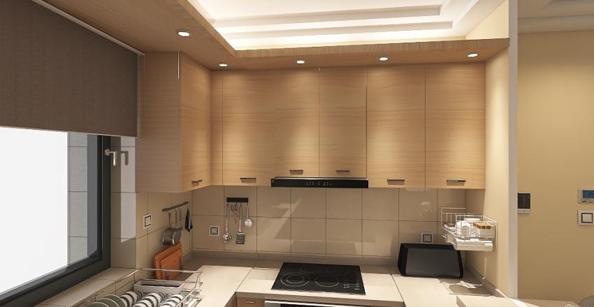 Apartment building in the center of Athens Interior Design Render