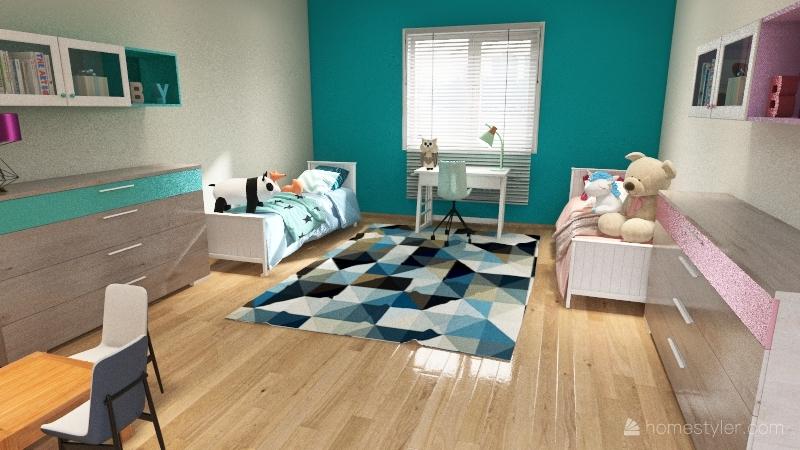 Copy of pokój dla dziecka Interior Design Render
