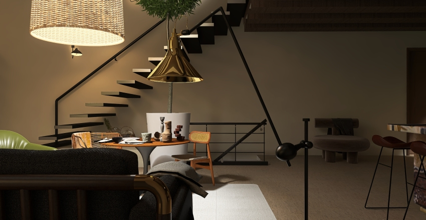 beach villa  Interior Design Render