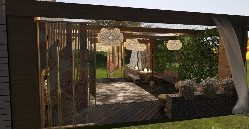green pergola Interior Design Render