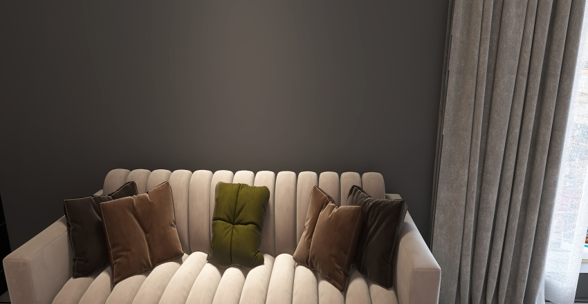 orange & green Interior Design Render