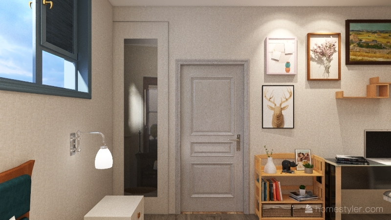 Small House for Four Interior Design Render
