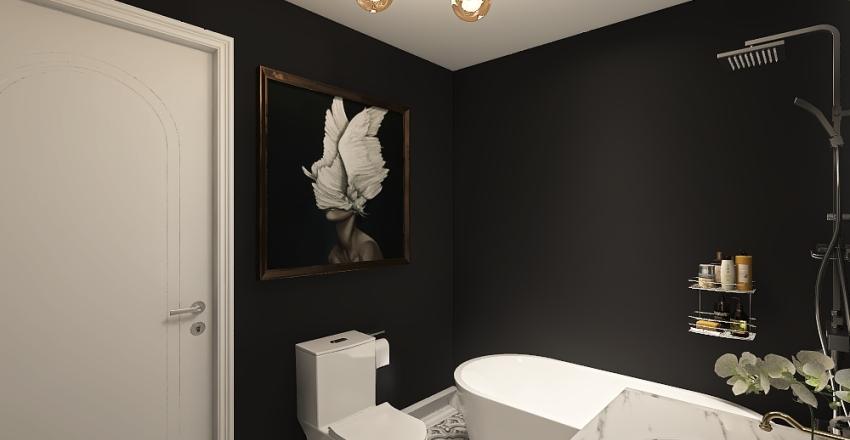 Powder bathroom Interior Design Render