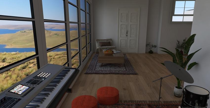2 bed/ 1 bath Interior Design Render