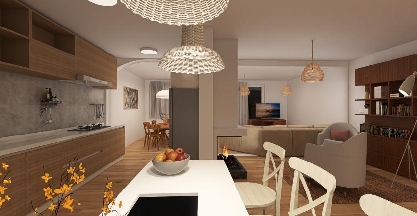 Familiar house  Interior Design Render