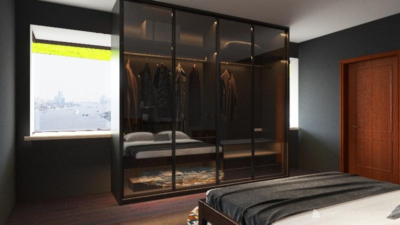 Delux 2 BED/2 BATH Interior Design Render