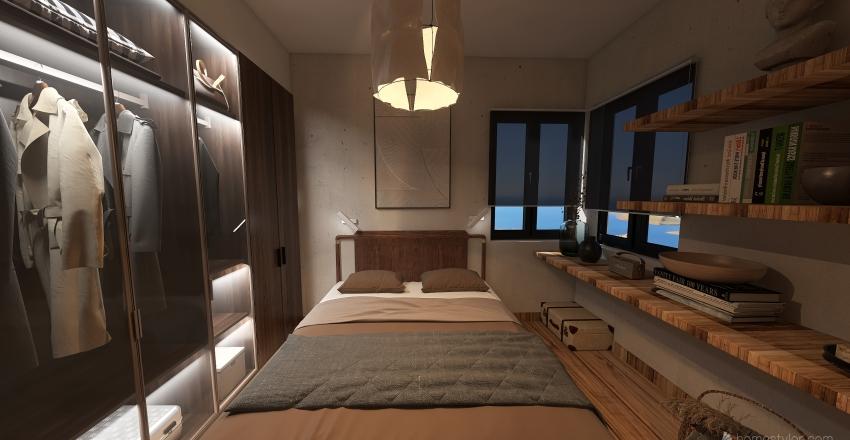casita de playa Interior Design Render