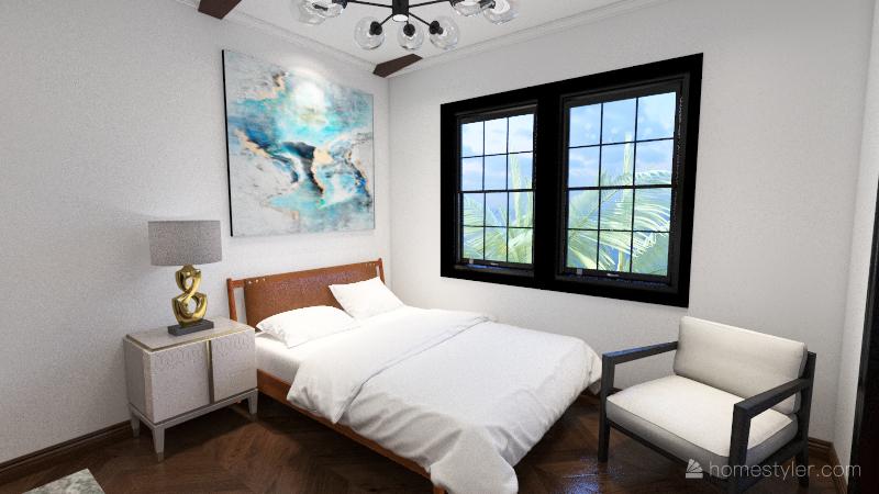 Mediterranean Style Oceanfront Villa Interior Design Render