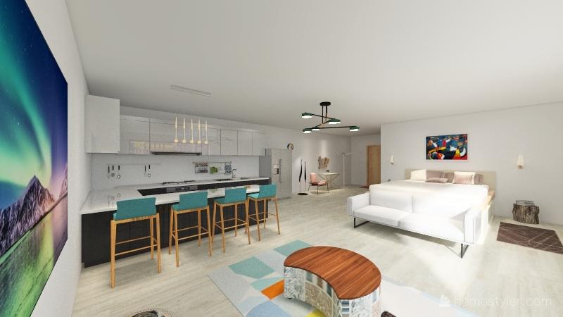 Comfy Studio Interior Design Render