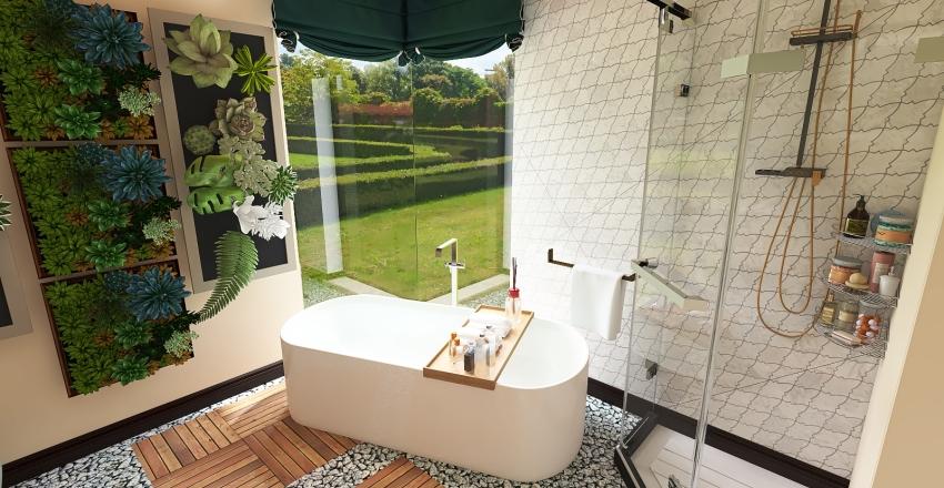Pokój kąpielowy Interior Design Render