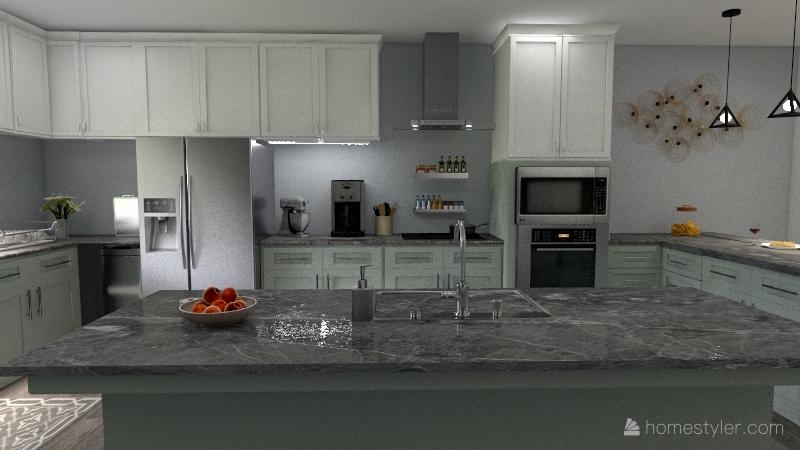 David's Kitchen Interior Design Render