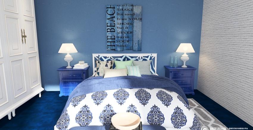 Mediterranean holiday apartment Interior Design Render
