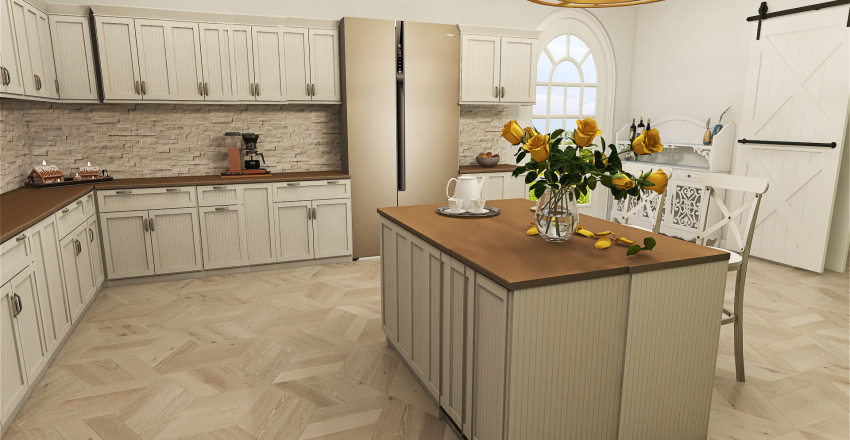 French Country Style Interior Design Render