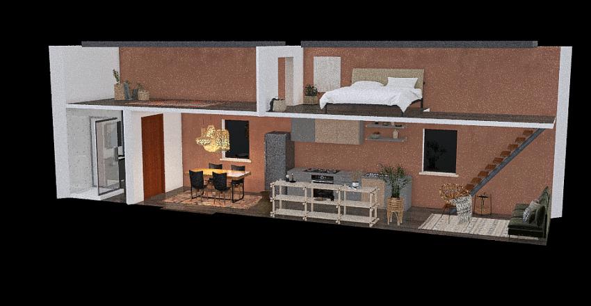 STEM Tiny House Interior Design Render
