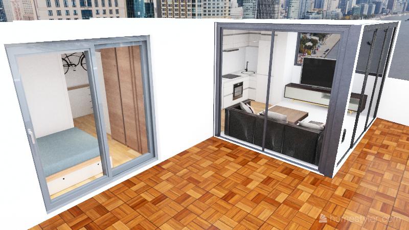 Super Ático Reforma Interior Design Render