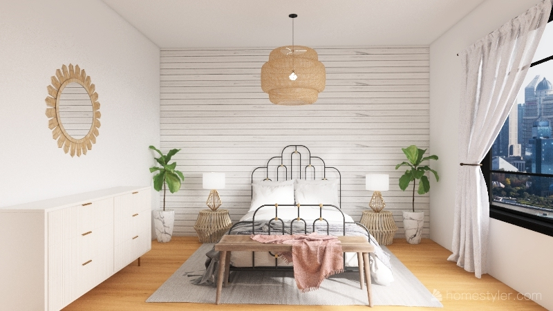 Budget Dream Room Interior Design Render