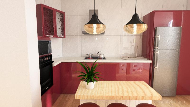 Oscar Salmerón Cocina Interior Design Render