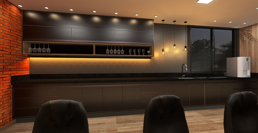 Sala Degustação Interior Design Render
