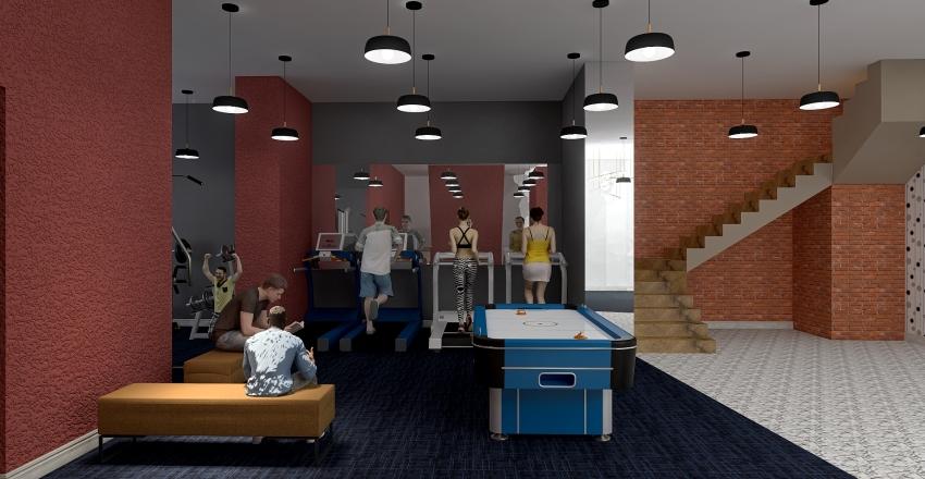 plan demisol Interior Design Render
