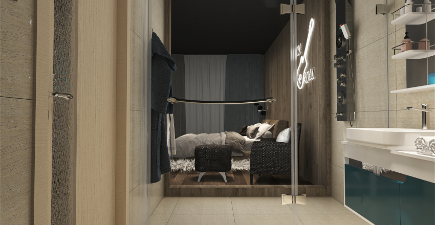 First Apartament Interior Design Render
