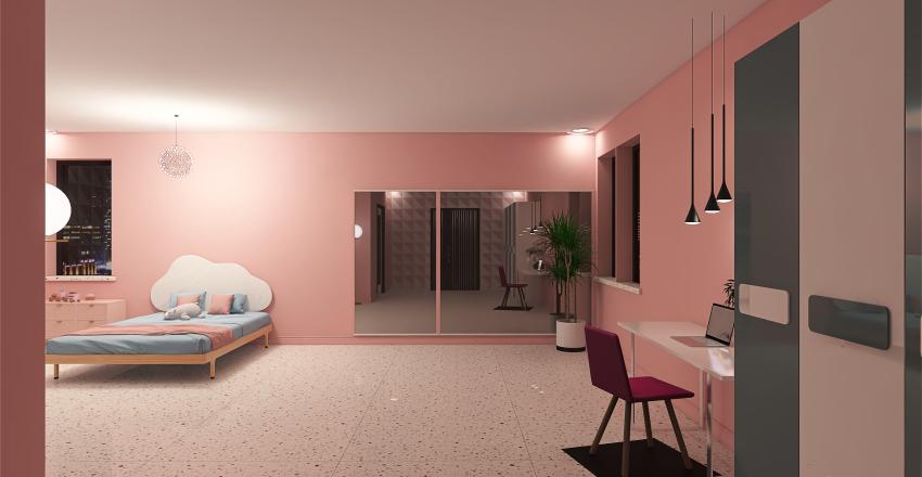 quarto - menina Interior Design Render