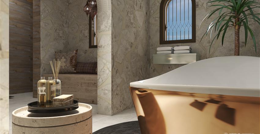 Mediterranean Living Interior Design Render