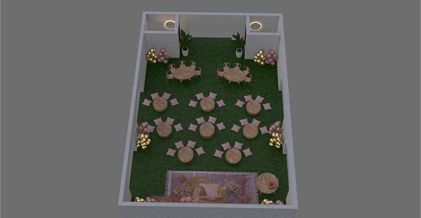 KIDDIE PARTY NO WALLS Interior Design Render