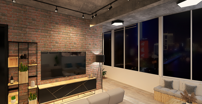 Panorama 174 - varanda/escritório Interior Design Render