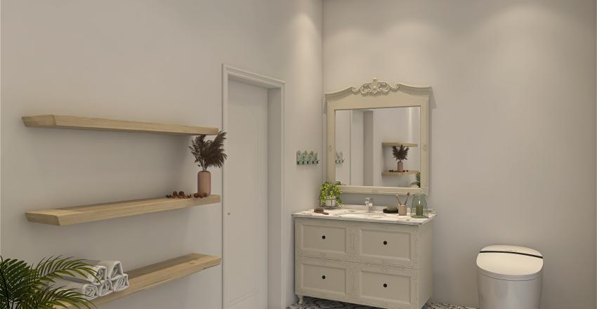 Mediterranean Sky Light Home Interior Design Render