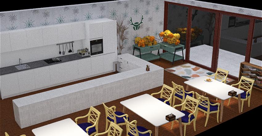 汕食餐盒餐廳設計 Interior Design Render