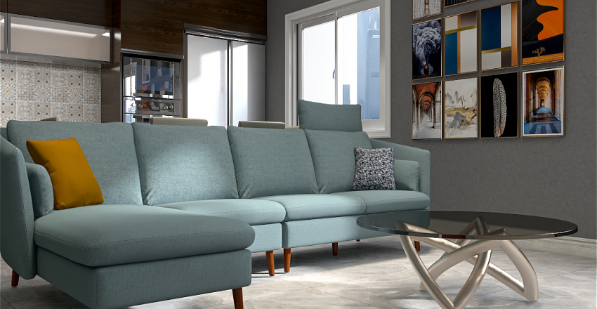 Cozy small space Interior Design Render