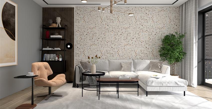 Three Musketeers Living Room Interior Design Render